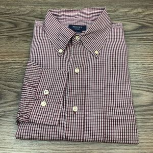 Brooks Brothers Red, White & Navy Plaid Shirt L